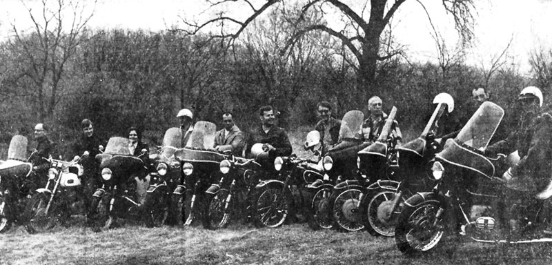 The club in a photo from a March, 1968 article in the Capital Times. Left to right: Harry Christenson, Bob Andrews, Jean Christenson, Ken Bahl, Russ Atkinson, Milt Alswager, Jeff Dean, George Martin, Fred Sprouse, Arno Lascari and David Maly.